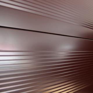 Металлосайдинг гофрированный цвет коричневый