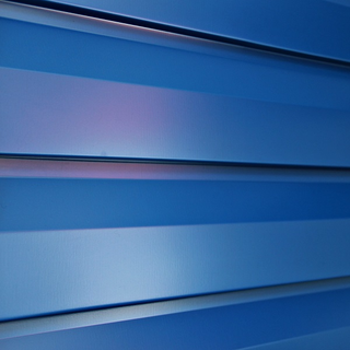 Металлосайдинг под корабельную доску синего цвета