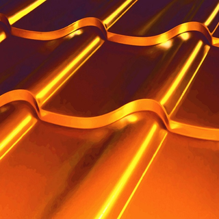 Металлочерепица Дюна золотого цвета
