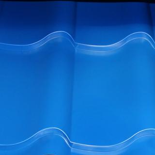 Металлочерепица Дюна голубого цвета