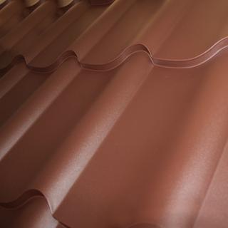 черепица Дюна матовая коричневого цвета
