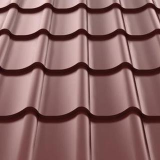 Фото металлочерепицы Монтеррей коричневого цвета