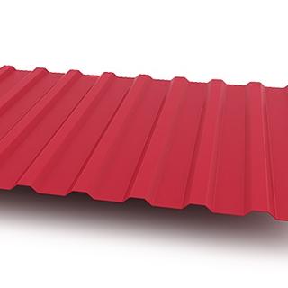 Фото профнастил H-20 бордового цвета