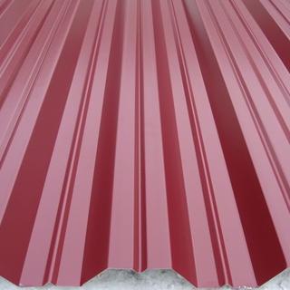 Фото профнастила H-35 красного цвета