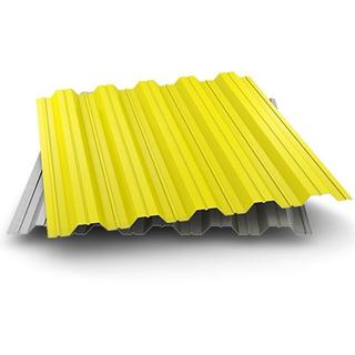 Фото профнастила H-35 желтого цвета