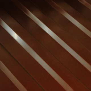 Фото профнастила H-10 коричневого цвета